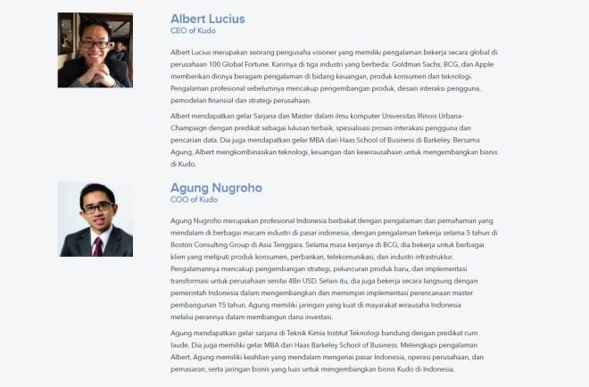 Profil Founder Kudo