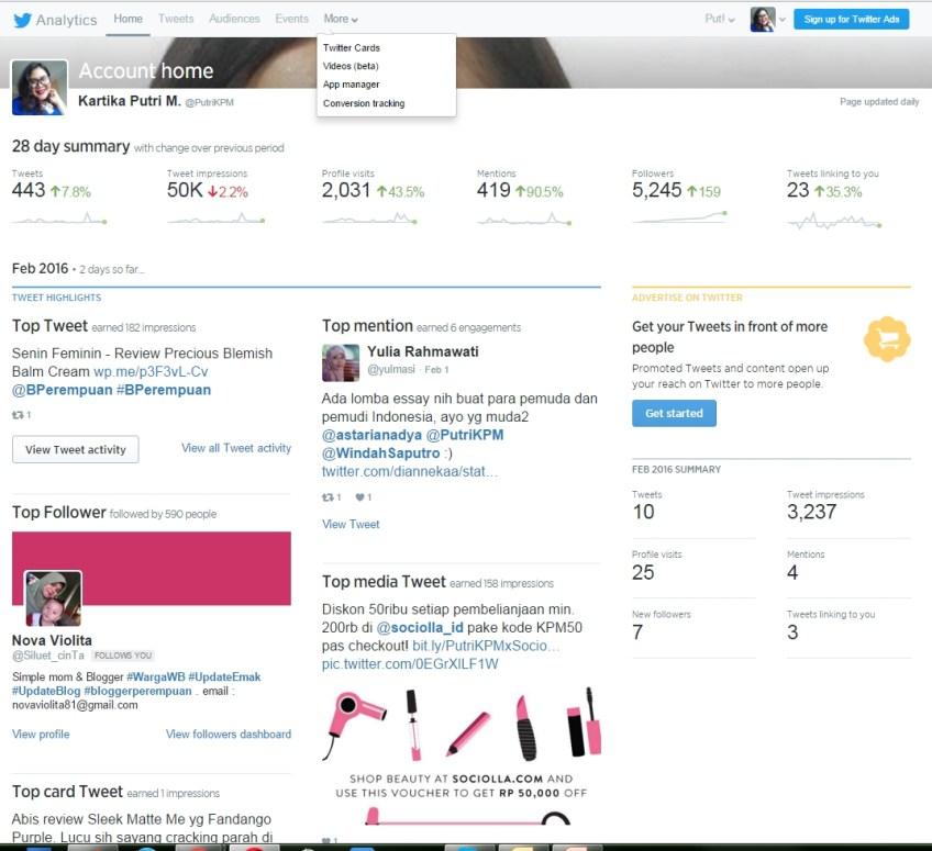 PutriKPM Gila Followers - Twitter Analytic
