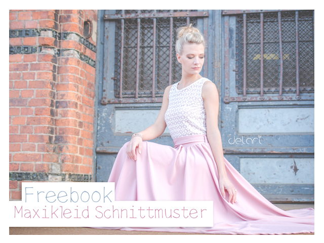 Maxi-Kleid Schnittmuster Freebook - delari