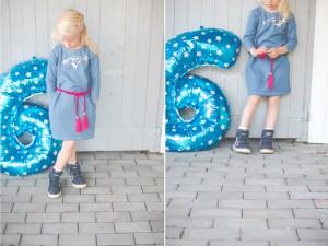 Geburtstag, Kleid, naehen, cool, sechs, six, diy