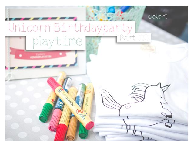 Unicorn Birthdayparty Part 3 – Playtime