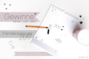 Freebie, Kalender, Familienkalender, Familienplaner, Kalender 2017