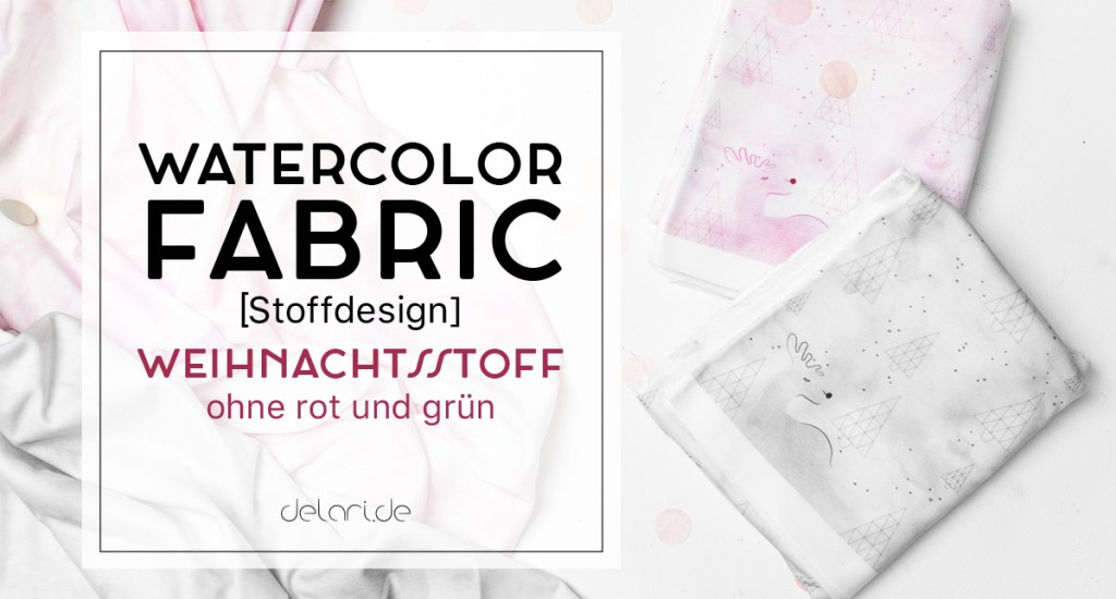 Watercolorfabric self-made Stoffdrucken diy watercolor fabric