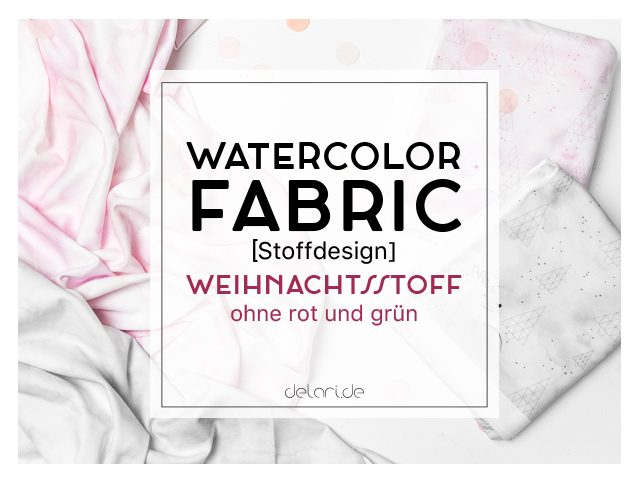 Watercolor Fabric im Weihnachtslook – Spoonflower