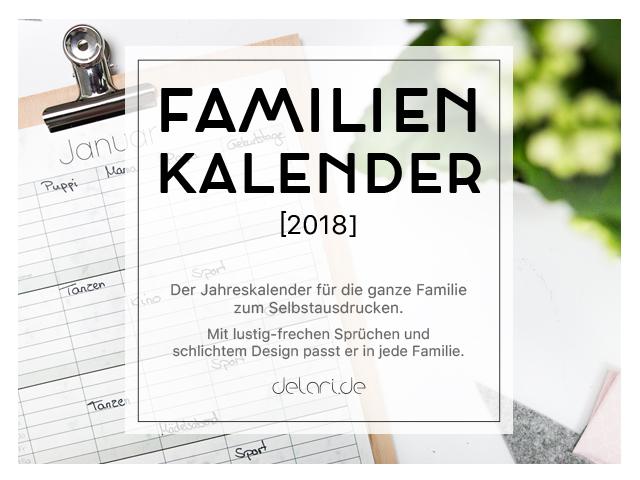 Familienkalender 2018 – Klemmbrett DIY Ideen