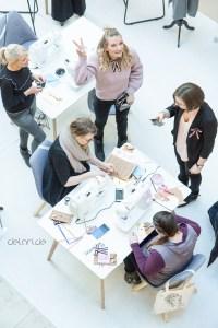 Hamburg FashionBow Workshop Nähpappe Clutch nähen Freebie
