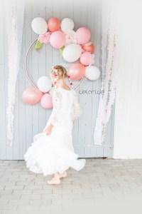 DIY Luftballonkranz Hoolahoop Geburtstag Kindergeburtstag Dekoration Luftballon