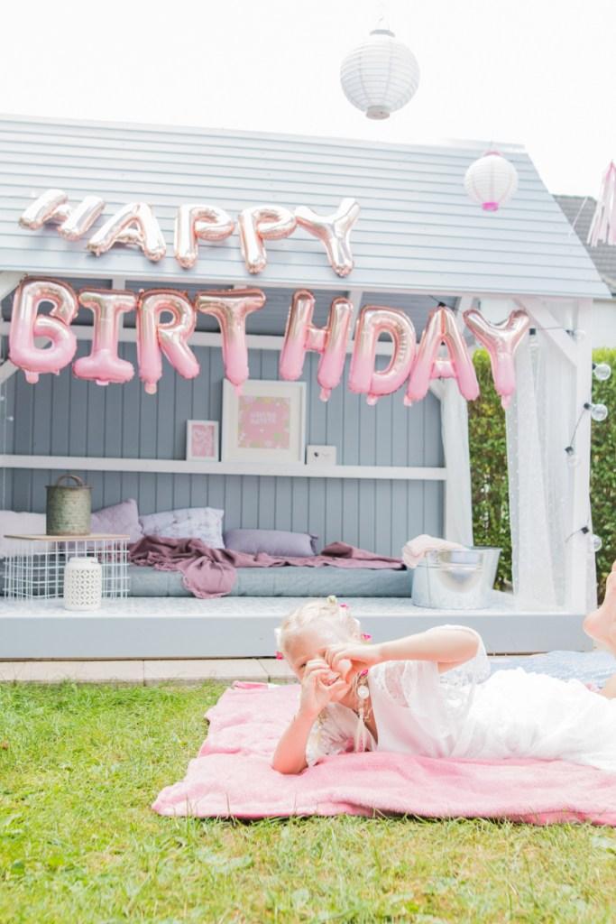 Ombré Luftballon DIY Geburtstag Dekoration Kindergeburtstag