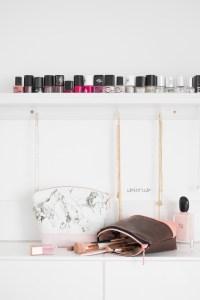 kostenloses Schnittmuster Kosmetiktasche delari Stoffresteverwertung Geschenkidee