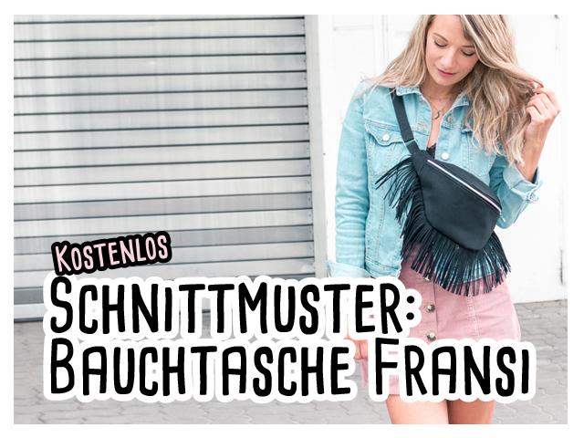 kostenloses Schnittmuster – Bauchtasche Fransi – delari