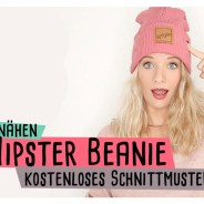 Hipster Beanie kostenloses Schnittmuster Video Anleitung