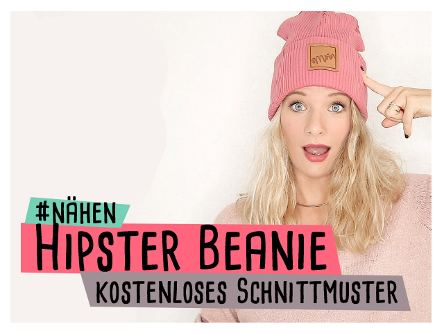 Hipster Beanie kostenloses Schnittmuster Video Anleitung