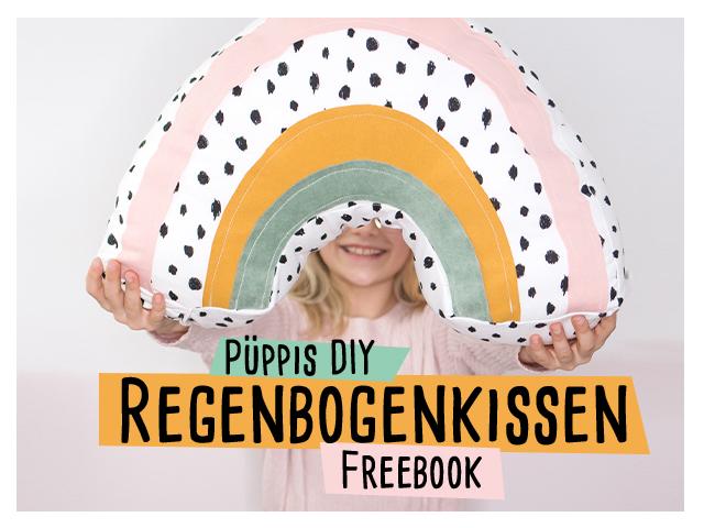 Regenbogenkissen Freebook