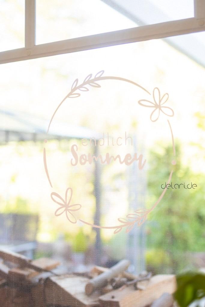 Fensterbild Hello Sunshine Plotterdatei Malvorlage Delari