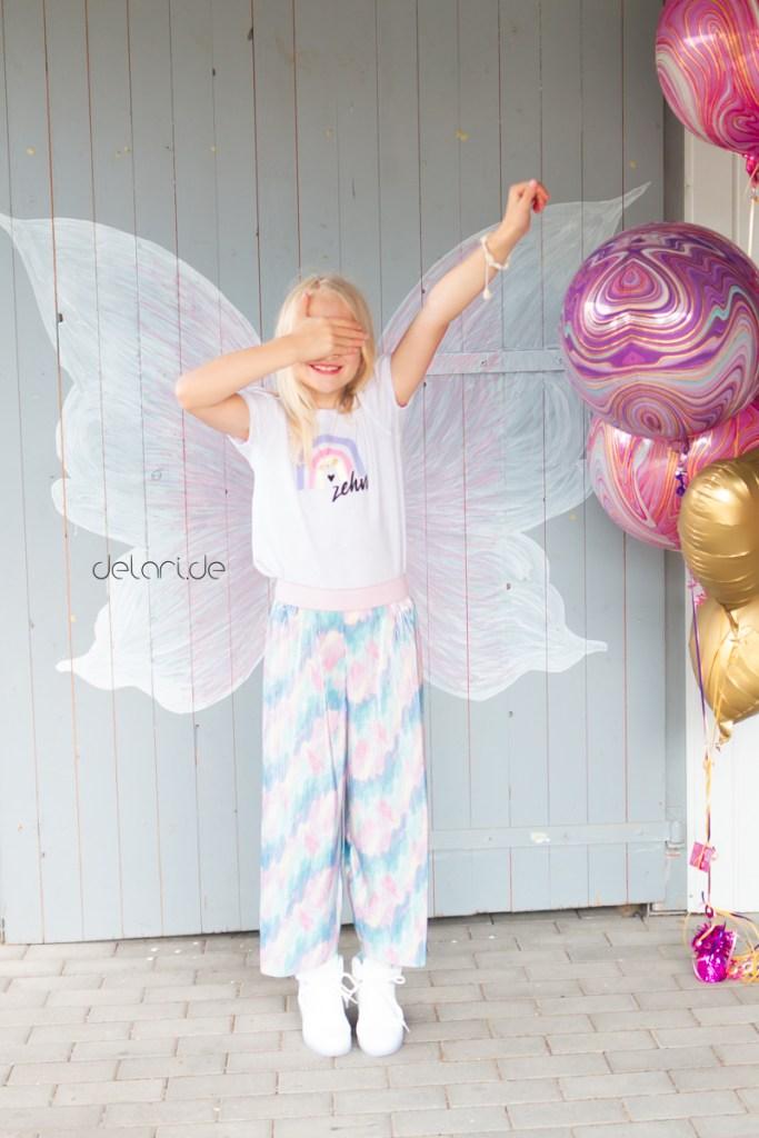 Geburtstagsoutfit zehn Regenbogen plotterdatei culotte nähen
