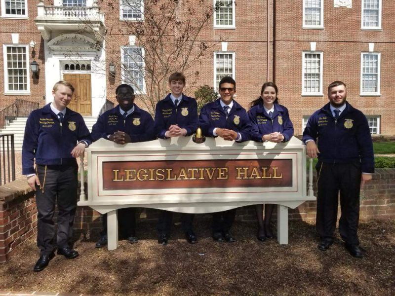 Delaware FFA Association 2018-2019 State Officers