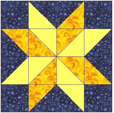 Image result for Easy Star Quilt Block Pattern