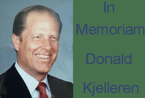 In Memoriam - Donald Kjelleren