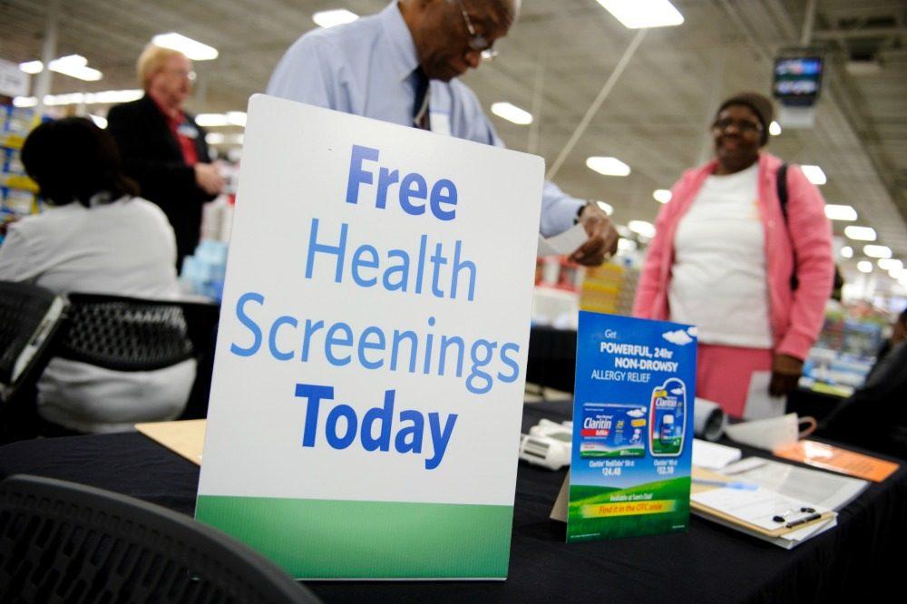 free health screening at Sam's Clubs