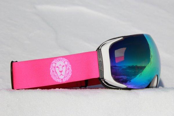 DELAYON Eyewear Explorer Goggle Matte White Pink Space Gold
