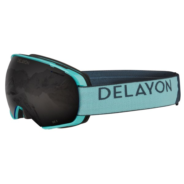 Puzzle Goggle Turquise STRONG Black Front