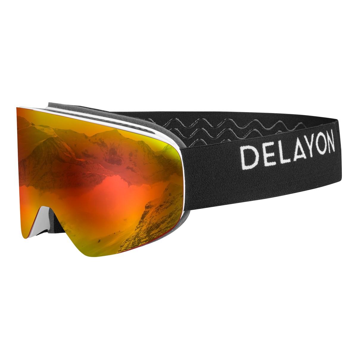 DELAYON Eyewear Core 2.0 Goggle White Black Space Fire