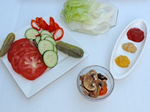 toppings for grilled burgers