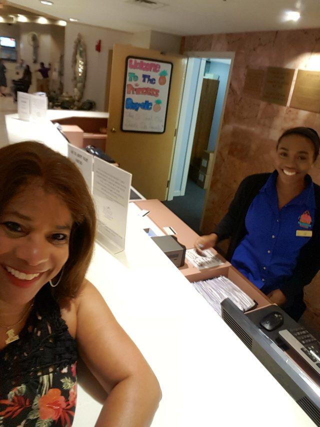 front desk clerk