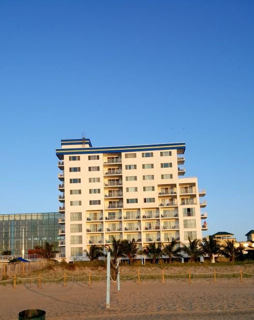 hotel on the beach in Ocean City