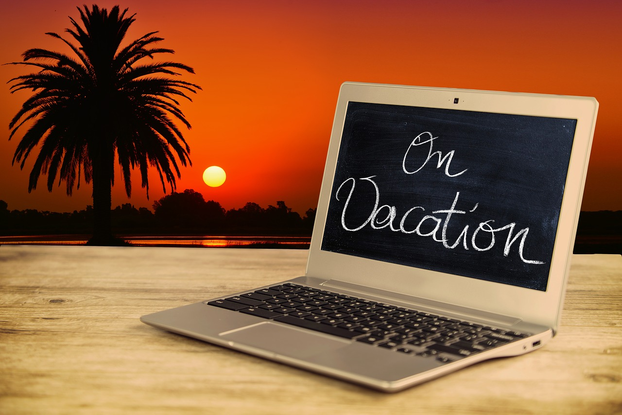 blogging on vacation