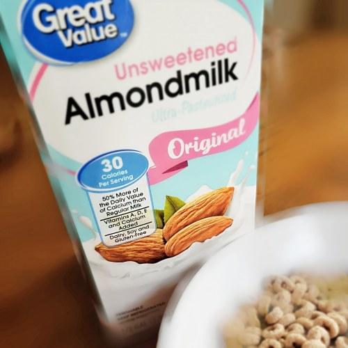Great Value Unsweetend Almond Milk from Walmart