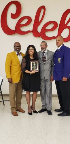 Outstanding Service Award recipient.