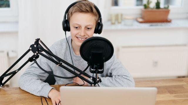 student podcaster