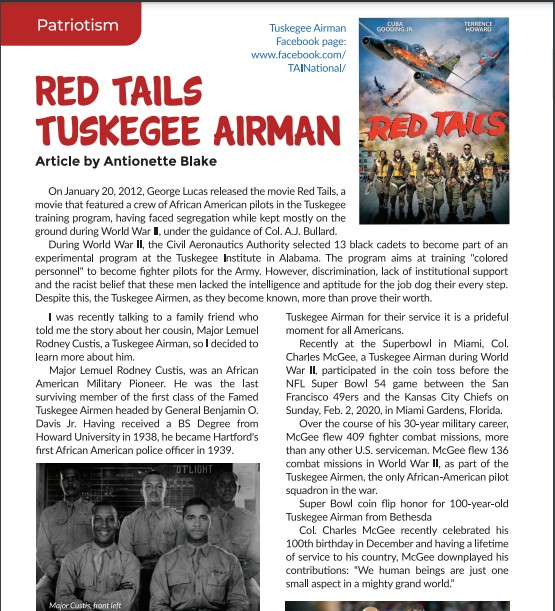 Red Tails Article by Antionette Blake