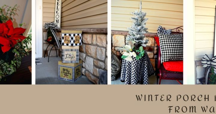 Winter Porch Decor from Walmart