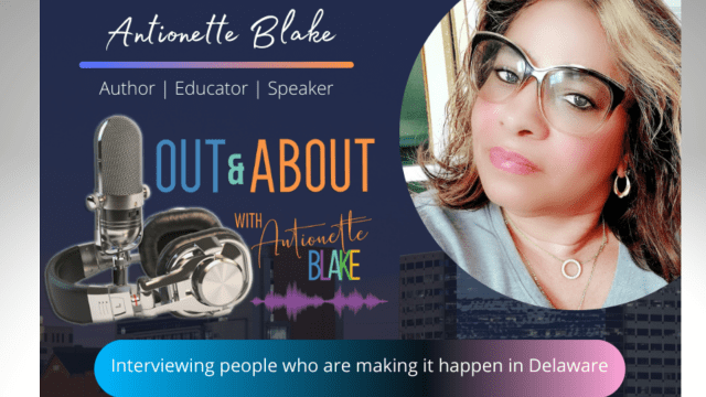 Out & about with antionette podcast poster