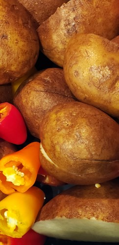 potatoes and sweet peppers