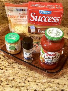 Ingredients for Stuffed Green Peppers
