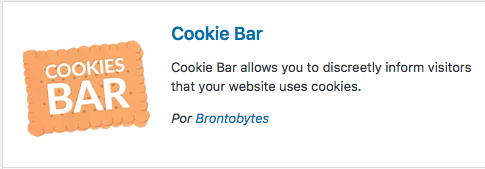 plugin cookies bar