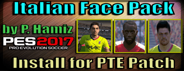 Face Pack for PTE Patch [ Serie A (PES 2017)
