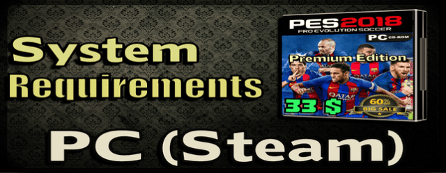 PES 2018 System Requirements for PC official from Konami