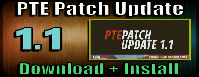 PES 2018 PTE Patch 1.1 Update download and install on PC