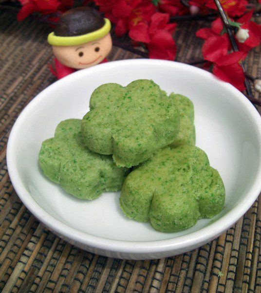cny cookie green pea