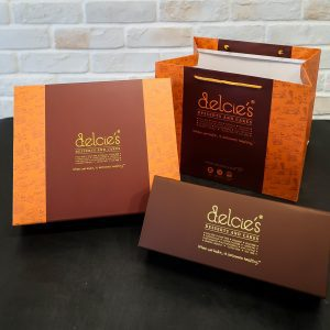 Delcies eggless dairy free mooncake packaging box