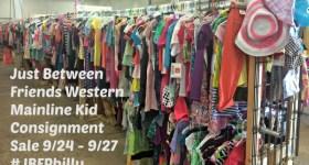 Just Between Friends Western Mainline Kid Consignment Sale 9/24 – 9/27 #JBFPhilly