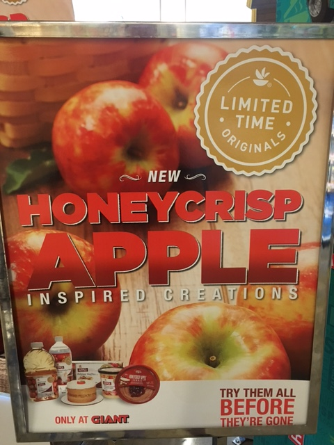 Honeycrisp sign