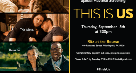 RSVP to Attend a FREE Girls Night Out Screening of NBC's New Show This Is Us on Thursday 9/15/16
