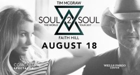 Tim McGraw & Faith Hill 'Soul2Soul The World Tour' Coming to Wells Fargo Center in Philadelphia 8/18/17 {& a Ticket Giveaway)