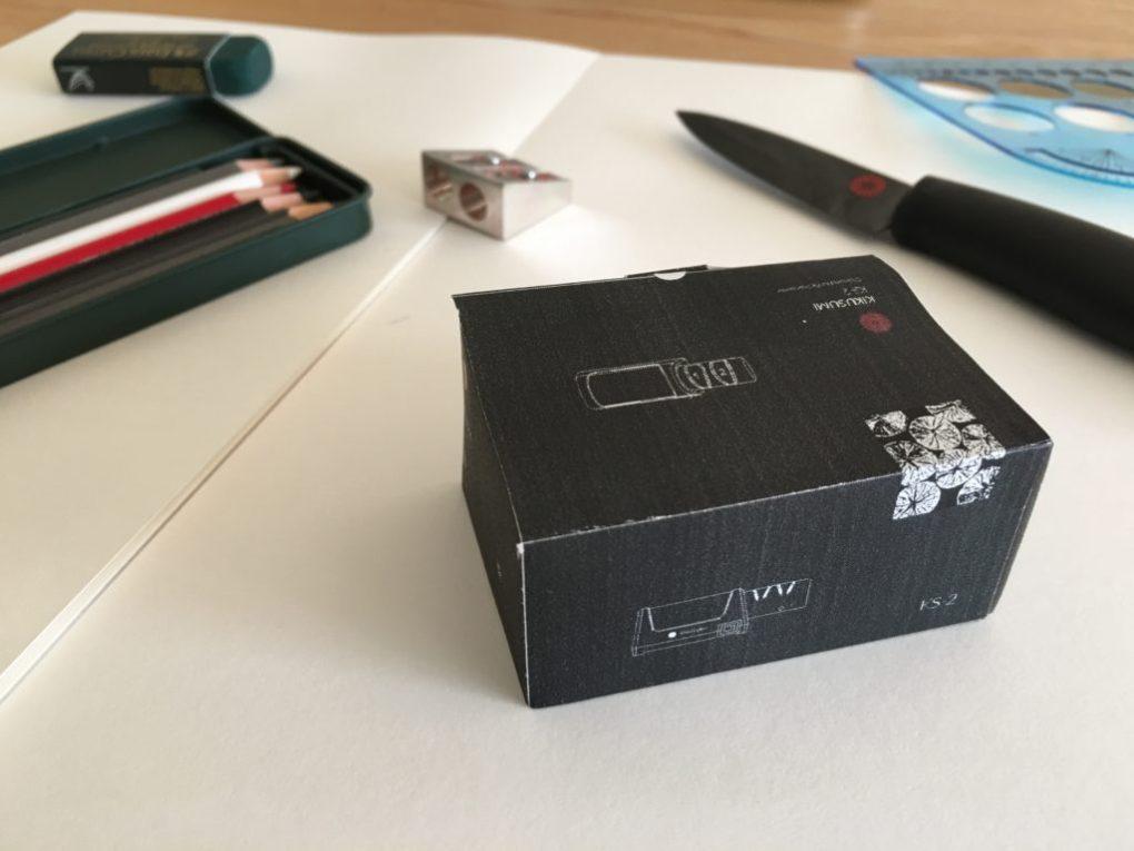 Closeup of the Kikusumi KS-2 electric diamond knife sharpener packaging box