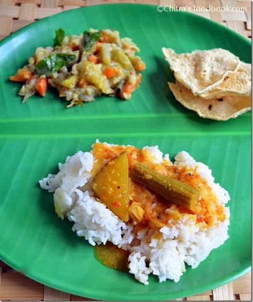 sambar-rice-papad